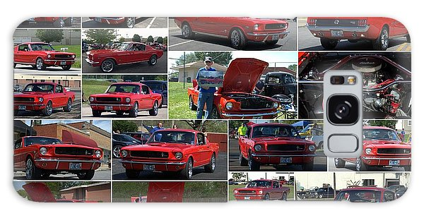 1965 Mustang Fastback Collage Galaxy Case