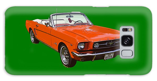 1965 Red Convertible Ford Mustang - Classic Car Galaxy Case by Keith Webber Jr