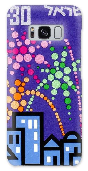 Fireworks Galaxy Case - 1966 Israel Tel Aviv Fireworks Postage Stamp by Retro Graphics