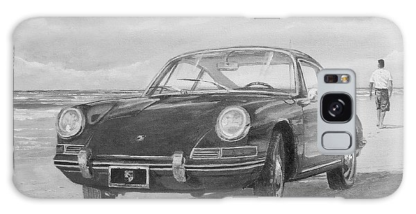 1967 Porsche 912 In Black And White Galaxy Case