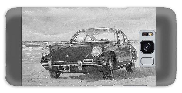 1967 Porsche 912 In Black And White Galaxy Case