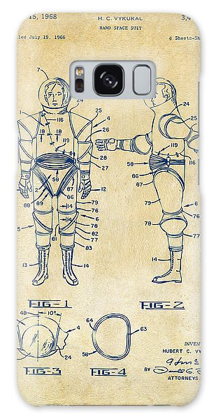 1968 Hard Space Suit Patent Artwork - Vintage Galaxy Case by Nikki Marie Smith