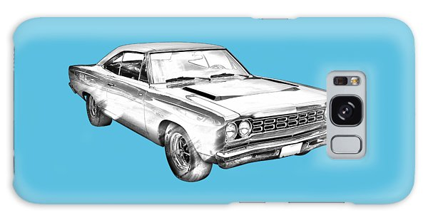 1968 Plymouth Roadrunner Muscle Car Illustration Galaxy Case by Keith Webber Jr