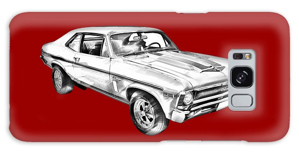 1969 Chevrolet Nova Yenko 427 Muscle Car Illustration Galaxy Case by Keith Webber Jr