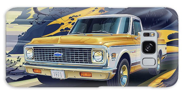 Truck Galaxy Case - 1971 Chevrolet C10 Cheyenne Fleetside 2wd Pickup by Garth Glazier