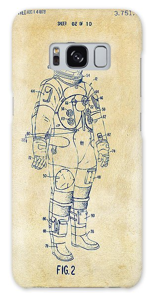 1973 Astronaut Space Suit Patent Artwork - Vintage Galaxy Case by Nikki Marie Smith