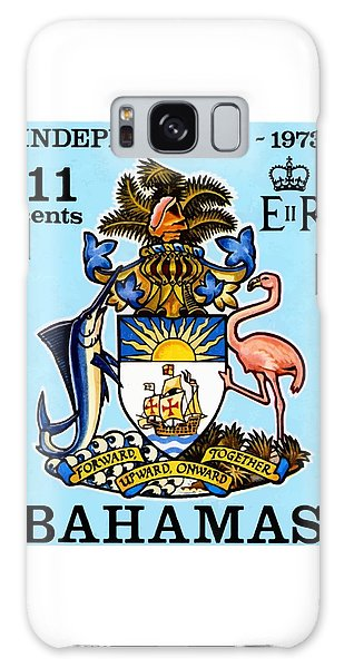 Bahamas Galaxy Case - 1973 Bahamas Coat Of Arms Postage Stamp by Retro Graphics