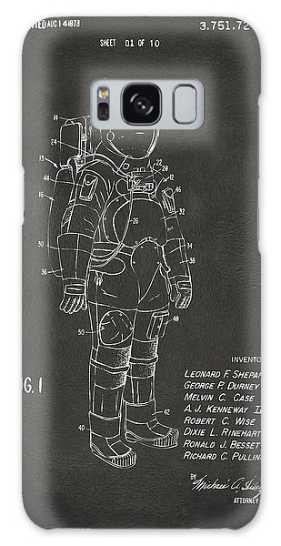 Astronauts Galaxy S8 Case - 1973 Space Suit Patent Inventors Artwork - Gray by Nikki Marie Smith