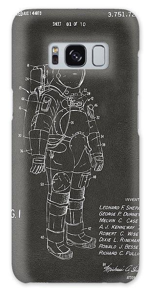 1973 Space Suit Patent Inventors Artwork - Gray Galaxy Case