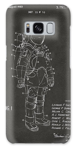 1973 Space Suit Patent Inventors Artwork - Gray Galaxy Case