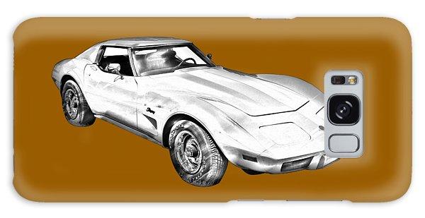 1975 Corvette Stingray Sports Car Illustration Galaxy Case