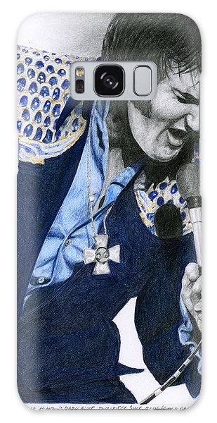 1975 Dark Blue Two Piece Suit Blue Gold Ornaments Galaxy Case