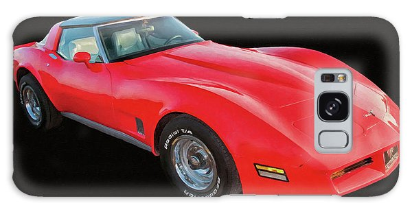 1977 Chevy Corvette T Tops Digital Oil Galaxy Case