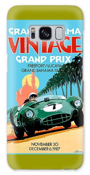 Bahamas Galaxy Case - 1987 Grand Bahama Vintage Grand Prix Race Poster by Retro Graphics