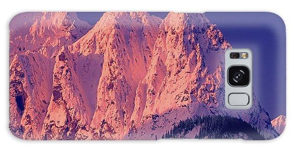 1m4503-a Three Peaks Of Mt. Index At Sunrise Galaxy Case