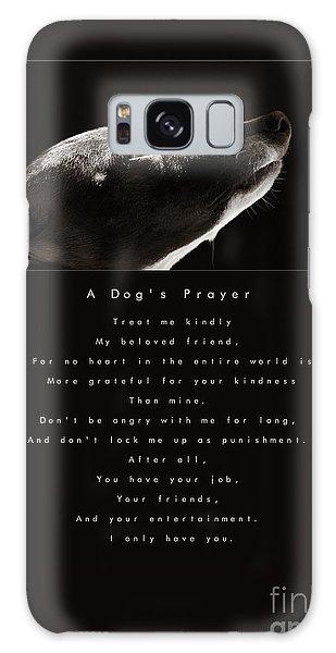 Sighthound Galaxy Case - A Dog's Prayer  A Popular Inspirational Portrait And Poem Featuring An Italian Greyhound Rescue by Angela Rath