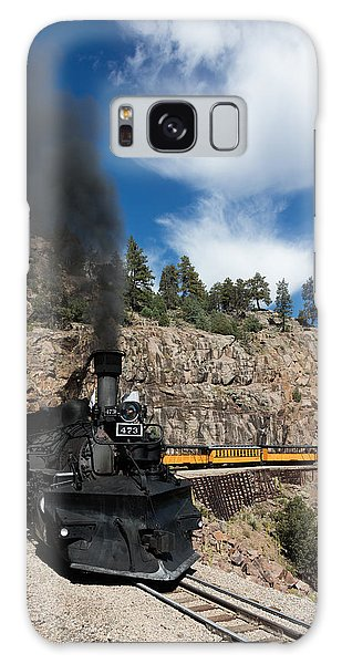 A Durango And Silverton Narrow Gauge Scenic Railroad Train Chugs Through The San Juan Mountains Galaxy Case by Carol M Highsmith