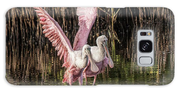 A Pair Of Spoonbills Galaxy Case