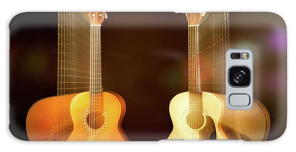 Acoustic Overtone Galaxy Case by Leland D Howard