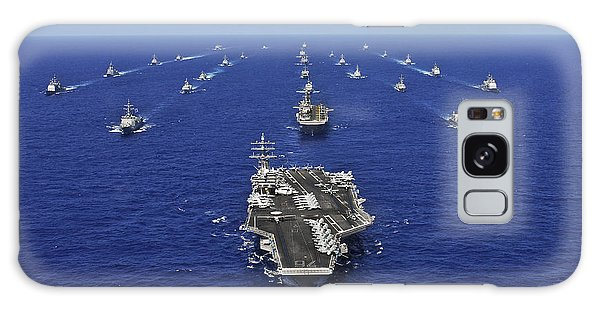 Galaxy Case featuring the photograph Aircraft Carrier Uss Ronald Reagan by Stocktrek Images