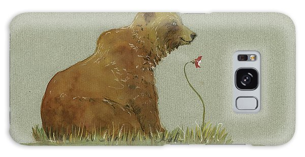 Grizzly Bear Galaxy Case - Alaskan Grizzly Bear by Juan Bosco