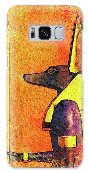 Anubis Galaxy Case - Anubis - Jackal God Of Ancient Egypt by Pierre Blanchard