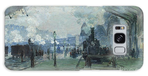 Arrival Of The Normandy Train Gare Saint-lazare Galaxy Case by Claude Monet