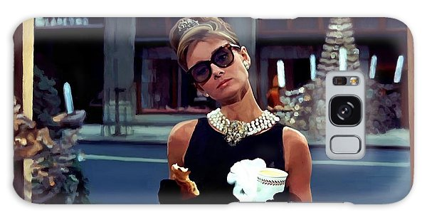Audrey Hepburn @ Breakfast At Tiffanys Galaxy Case