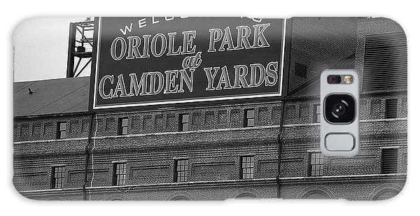 Galaxy Case - Baltimore Orioles Park At Camden Yards Bw by Frank Romeo