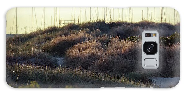 Beach Houses And Dunes Galaxy Case