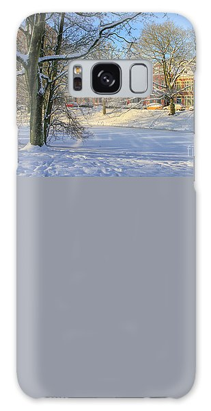Beautiful Park In Winter With Snow Galaxy Case