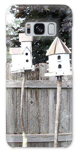 2 Bird Houses And A Fence Galaxy Case