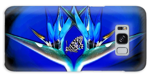 Blue Bird Of Paradise Galaxy Case