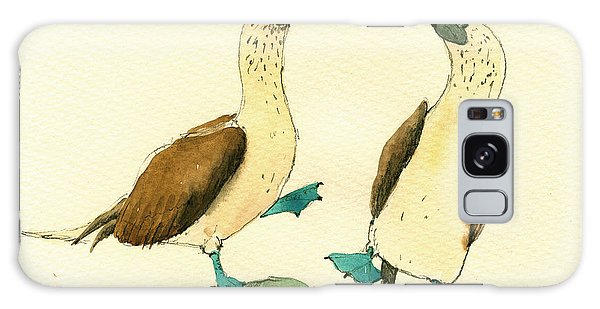 Bird Galaxy Case - Blue Footed Boobies by Juan  Bosco