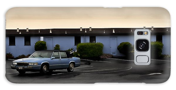 Blue Motel Galaxy Case by John Hansen