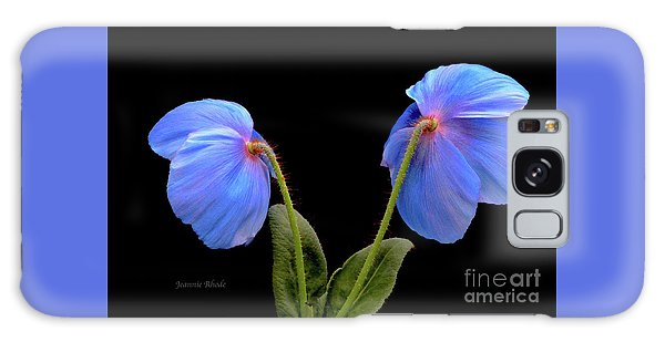 Blue Poppies Galaxy Case by Jeannie Rhode