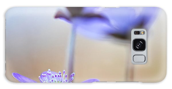 Blue Spring Wild Flower Galaxy Case