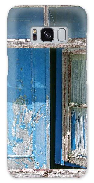Blue Window Galaxy Case