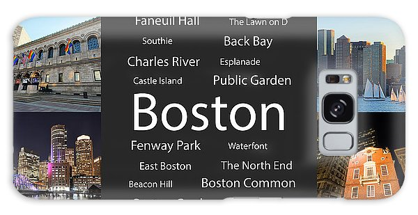Boston Ma Collage Galaxy Case
