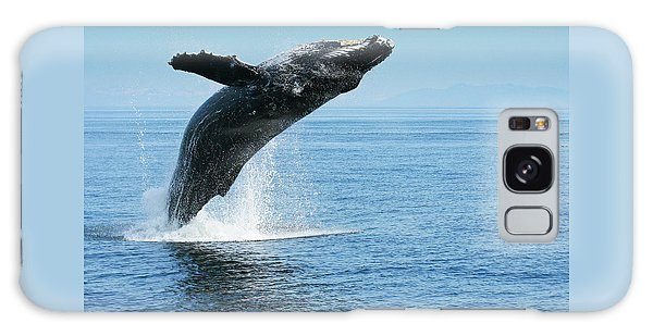 Breaching Humpback Whales Happy-1 Galaxy Case