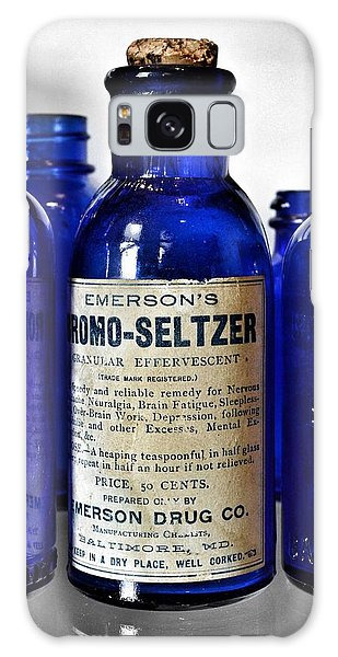 Bromo Seltzer Vintage Glass Bottles Collection Galaxy Case