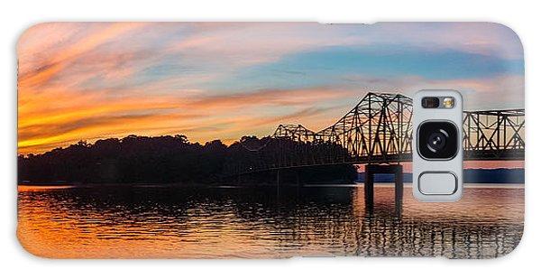 Browns Bridge Sunset Galaxy Case by Michael Sussman