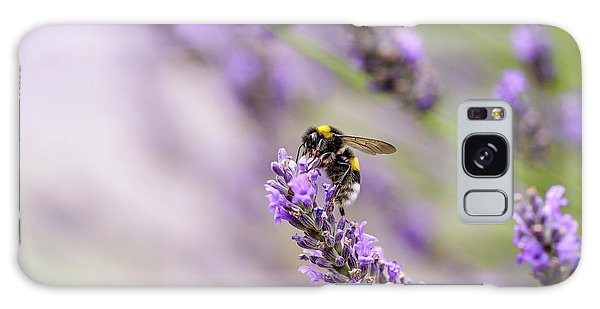 Herbs Galaxy Case - Bumblebee And Lavender by Nailia Schwarz