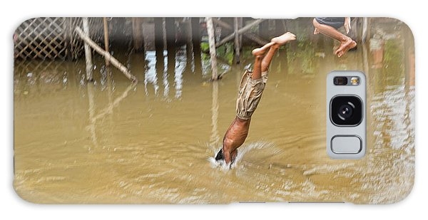 2 Cambodian Boys Dive Color Galaxy Case by Chuck Kuhn
