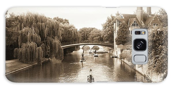 Cambridge River Punting Galaxy Case by Eden Baed
