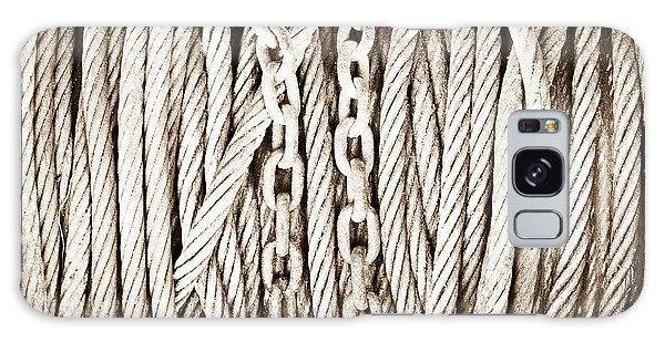 Rusty Chain Galaxy Case - Chains And Cables by Tom Gowanlock