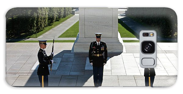 Galaxy Case featuring the photograph Changing Of Guard At Arlington National by Terry Moore