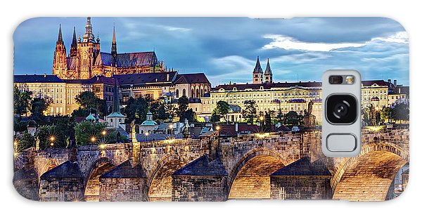 Galaxy Case featuring the photograph Charles Bridge And Prague Castle / Prague by Barry O Carroll