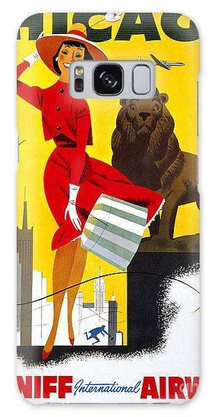 Chicago Vintage Travel Poster Restored Galaxy Case by Carsten Reisinger