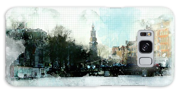 City Life In Watercolor Style Galaxy Case
